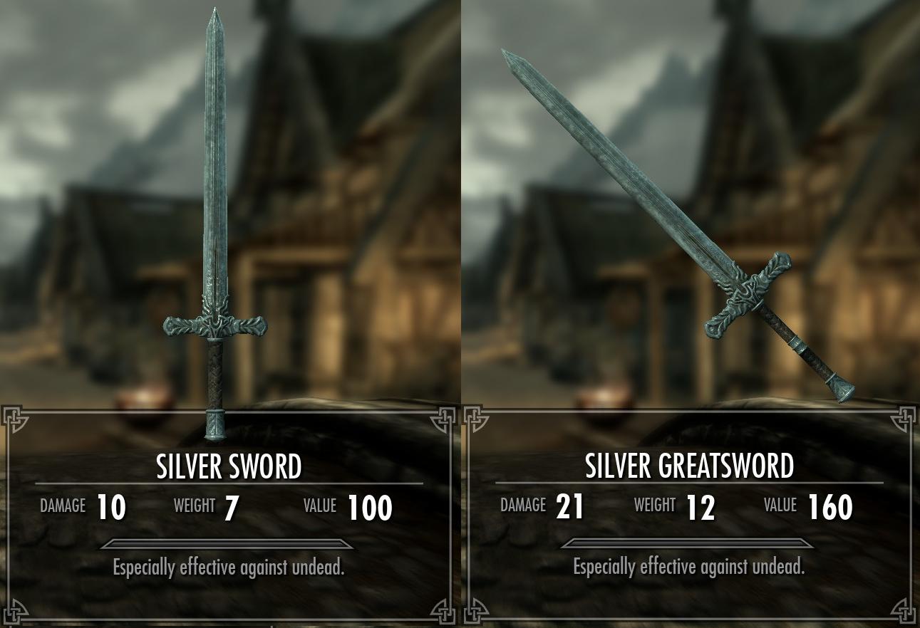 Silver Weapons (Skyrim)   Elder Scrolls   FANDOM powered by