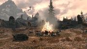 Паровой лагерь - костёр и дракон