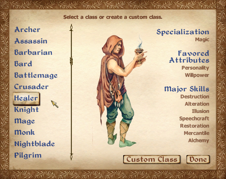 Classes Oblivion Elder Scrolls Fandom Powered By Wikia
