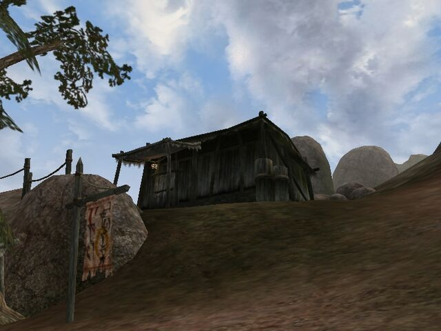 File:TES3 Morrowind - Ald Velothi - Fevila Bethrano's Shack exterior.jpg