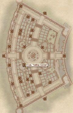 Отель Тайбер Септим карта
