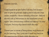 Farewell Note to Lauriel
