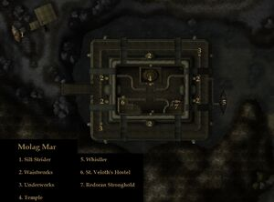 TES3 Morrowind - Molag Mar locations map