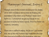 Tharayya's Journal, Entry 2