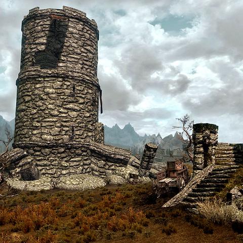 Wieża za dnia