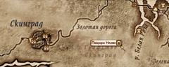Пещера Низин - карта
