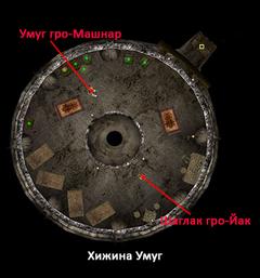 Хижина Умуг. План