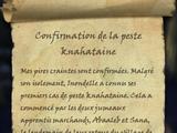 Confirmation de la peste knahataine