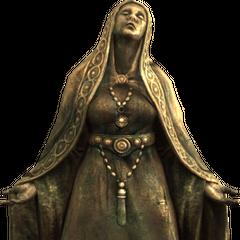 Posąg Mary z gry The Elder Scrolls V: Skyrim