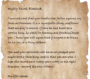 Letter to Baloth Bloodtusk