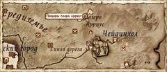 Пещеры озера Арриус. Карта