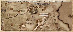 Форт Скиния (Карта)