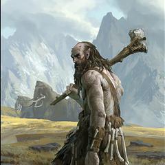 """Karta """"Czujny olbrzym"""" z gry The Elder Scrolls Legends"""