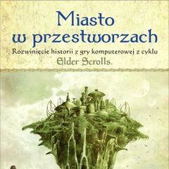 Okładka Miasta w Przestworzach z Umbriel otoczonym lasem Histów