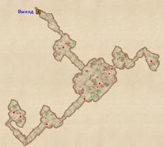 Пещера Разбитая Скала - план