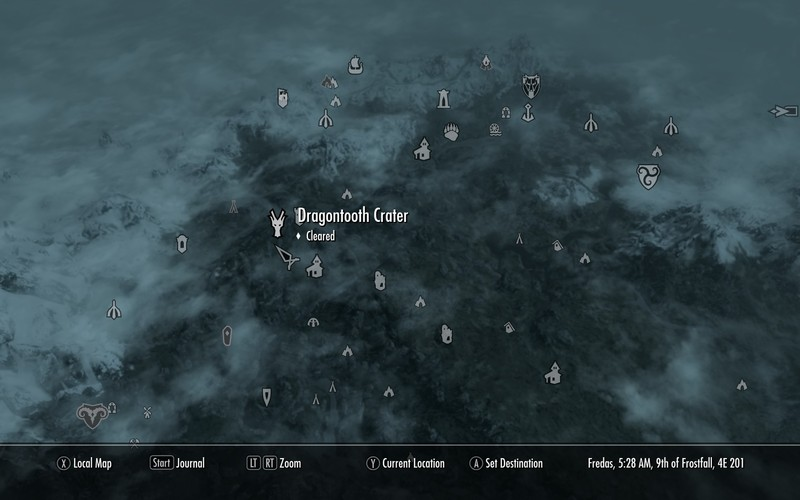Dragontooth crater elder scrolls fandom powered by wikia map freerunsca Image collections