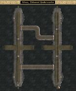 Vivec, Telvanni Underworks Interior Map Morrowind