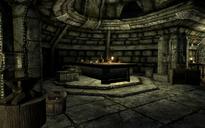 Casa del supervisor del horno de fundición mesa
