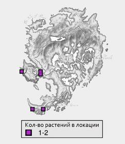 Деформированный болотный усик - карта