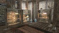 Музей Каликсто - первый этаж, стеллажи
