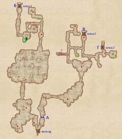 Неотмеченная пещера. План