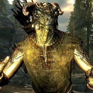 Argonianin z gry The Elder Scrolls V: Skyrim