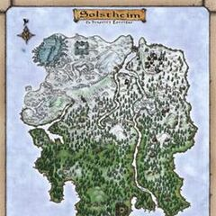 Mapa Solstheim w The Elder Scrolls III: Morrowind