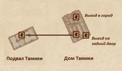 Дом Тамики - план