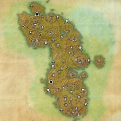 Ауридон-Разрушенная роща-Карта