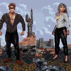 Khajiici odmiany Ohmes z gry The Elder Scrolls: Arena