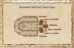 Великая часовня Зенитара - план