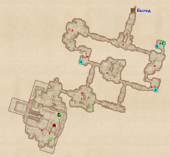 Пещера Поток Крови - план