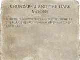 Khunzar-ri and the Dark Moons