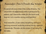 Reminder: Don't Drink the Water