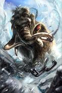 Stampeding Mammoth card art