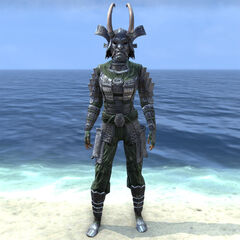 Postać nosząca ciężką zbroję Tsaesci z gry The Elder Scrolls Online