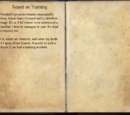 Report on Training