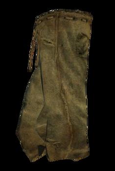 Штаны из мешковины