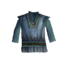 Синяя рубашка с воротником