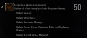 Forgotten Wastes Conquerer Achievement