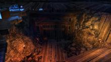 Раскопанный культом Червя тоннель