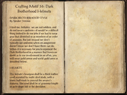 Crafting Motifs 36, Dark Brotherhood Helmets