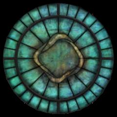 Witraż z symbolem Arkaya z gry The Elder Scrolls IV: Oblivion
