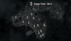 Шахта Вороньей Скалы на карте