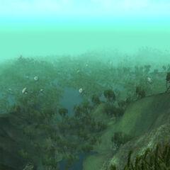 Krajobraz Demencji z gry The Elder Scrolls IV: Shivering Isles