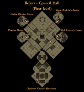 Redoran Council Hall First Level Interior Map