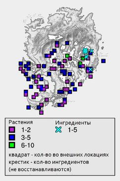 Затвердевшая гниль - карта
