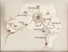 Карта дорожных святилищ