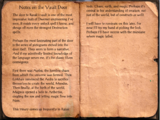 Notes on the Vault Door