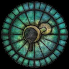 Witraż z symbolem Stendarra z gry The Elder Scrolls IV: Oblivion
